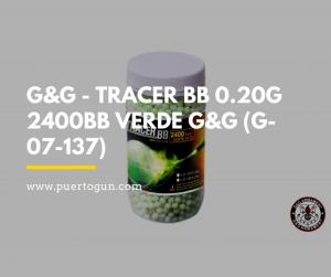 G&G - TRACER BB 0.20G 2400BB VERDE G&G (G-07-137)
