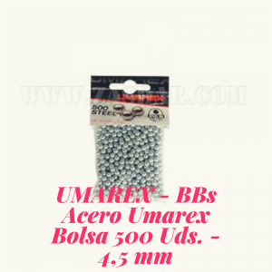 UMAREX - BBs Acero Umarex Bolsa 500 Uds. - 4,5 mm